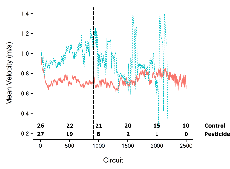 Figure 5 - flight velocity over time - subset